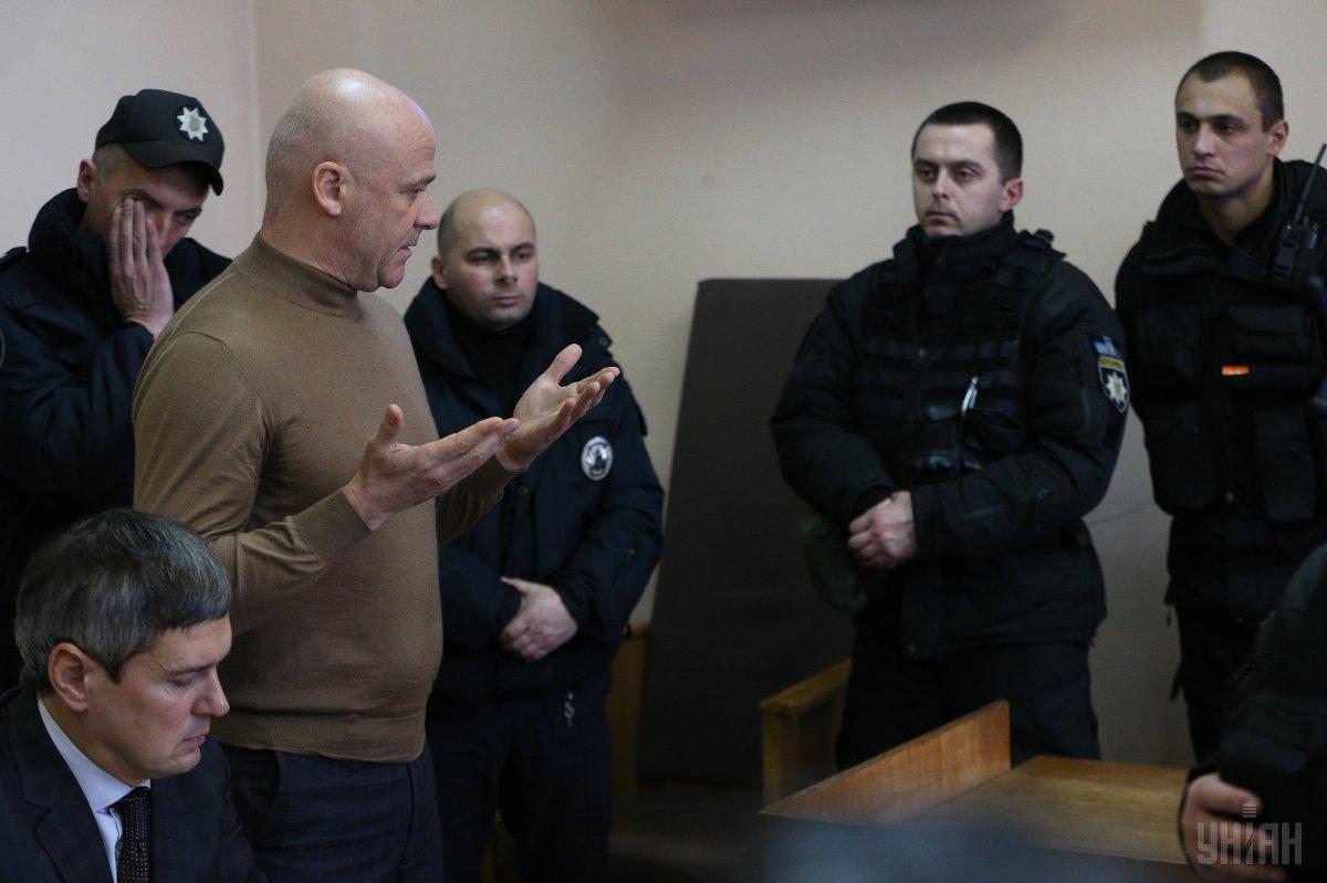 Мэра Одессы Труханова отпустили на поруки